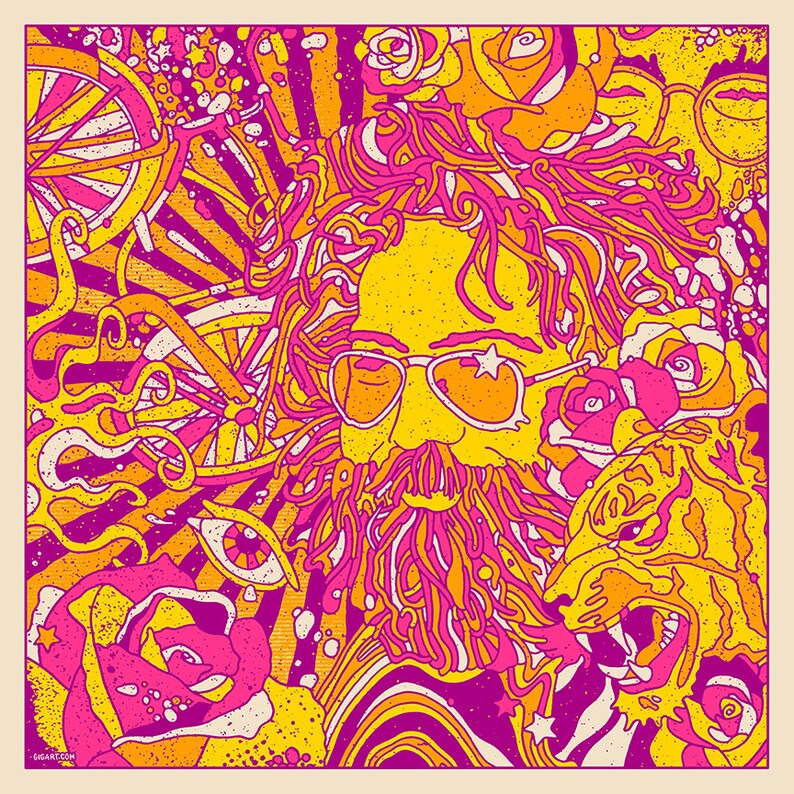 Jerry Garcia Bicycle Day 2019 Official Poster Artist Print Grateful Dead  LSD Psychedelic Dead And Company Art GIGART