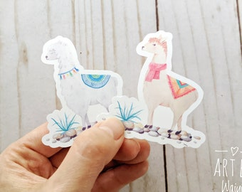 "Llama Sticker, Laptop Sticker, Laptop Decal, Waterproof Sticker, Vinyl Sticker, 2.5""x2.5"""