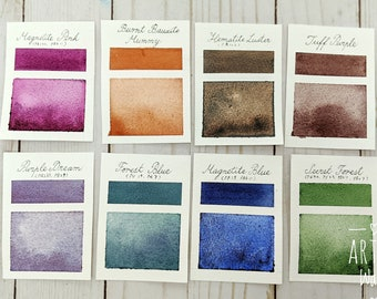 Handmade Watercolor Paints, Watercolor Dot Card, Handmade Paint Dot Card, Granulating Watercolor - Dot Card - Create Your Own Sample Set