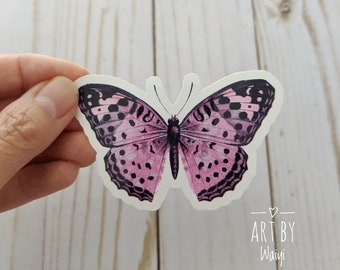Pink Butterfly Sticker, Laptop Sticker, Laptop Decal, Waterproof Sticker, Vinyl Sticker, Planner Sticker