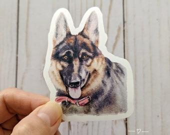 "German Shepherd Sticker, German Shepherd Mom Gift, German Shepherd Dad Gift, Laptop Sticker, Dog Owner Gift, Dog Breed Sticker, 3""x2.25"""