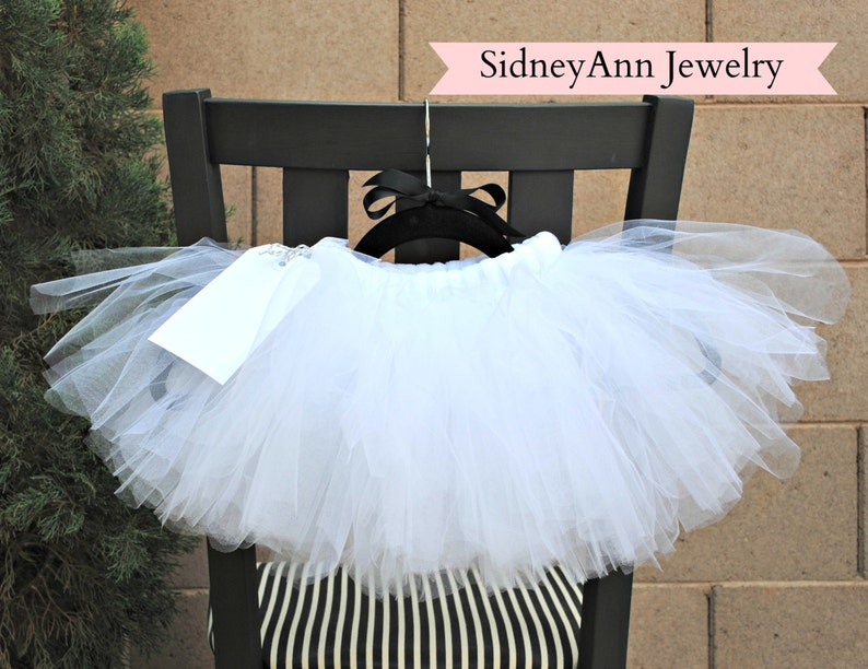 Light and Fluffy Tutu Skirt White Tulle Skirt White Tutu Skirt Little Girl Skirt White Flower Girl Tutu Skirt 1st Birthday Skirt