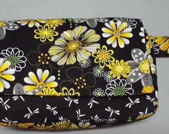 Belt Bag - Fanny Pack Plus Bag - Utility Bag - Jogging Bag - Hip Bag - Travel Bag - Festival Bag - Daisies and Dragonflies