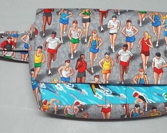 Fanny Pack Bag - Utility Bag - Jogging Bag - Hip Bag -  Travel Bag - 3 Options  Available - Iron Man Triathlon Fabric