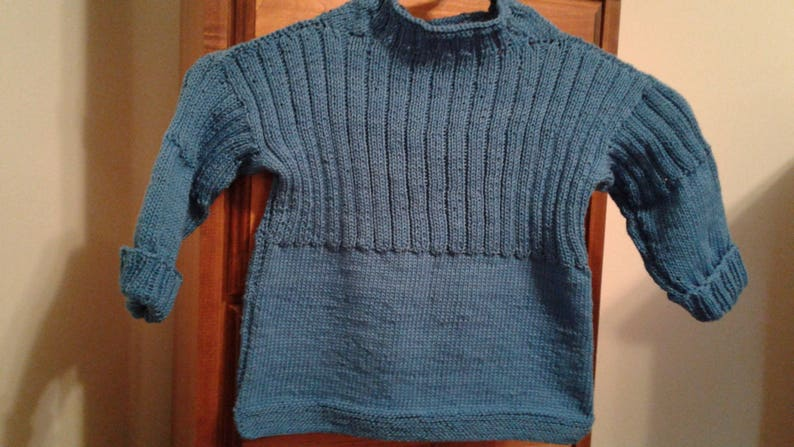 c17f71166e0 Traditional Guernsey Sweater in Ocean Blue by Never Felt Better