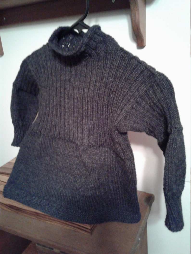 bee9777d50e Traditional Guernsey Sweater in Charcoal Gray by Never Felt Better
