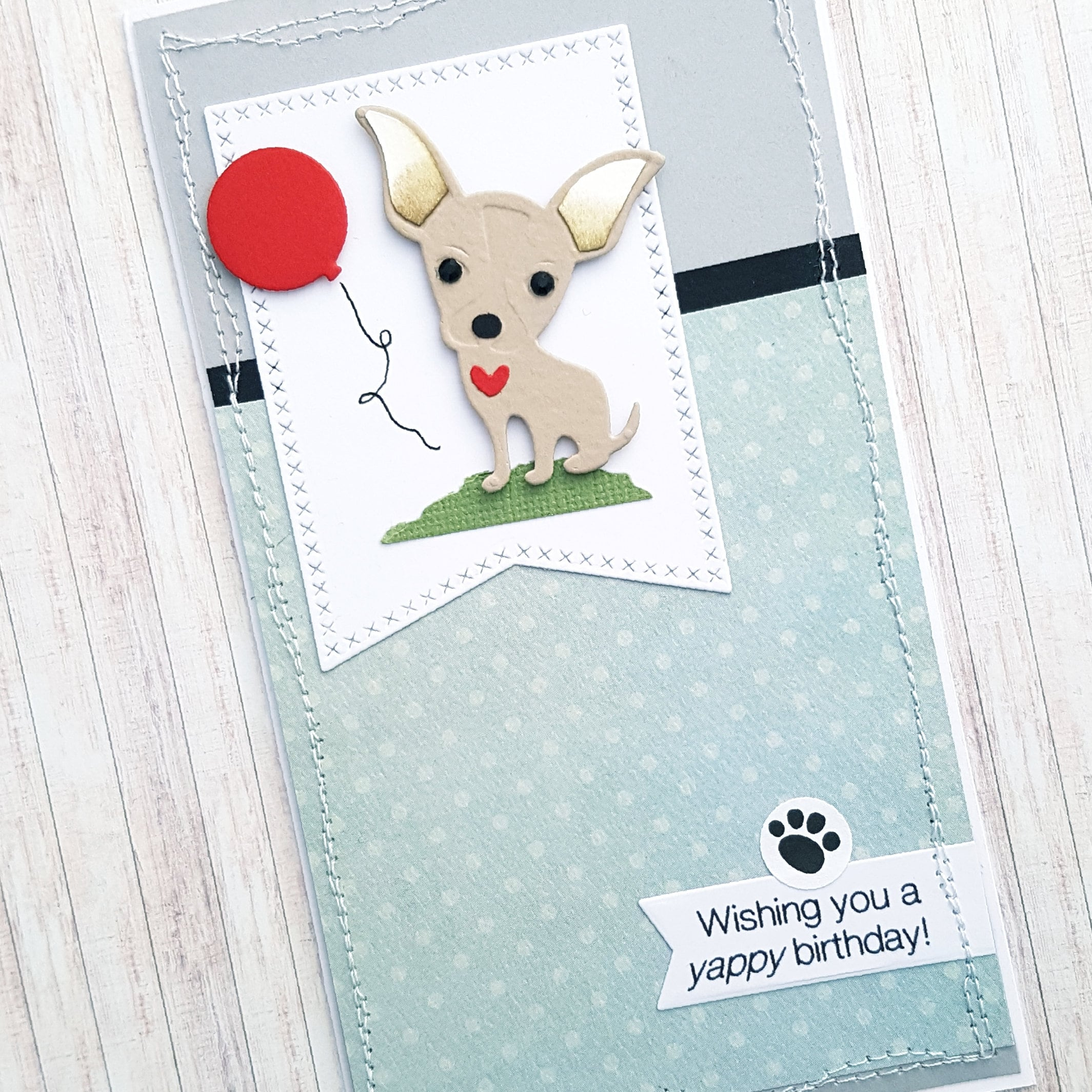 Yappy Birthday Card Cute Chihuahua Small Dog
