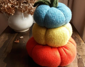 Stacked Pumpkins, Modern Farmhouse, Sweater Pumpkin, Recycled Wool Pumpkin, Cozy Knit, Fall Decor, Cottage, Cozy Home, Honeysuckle Lane