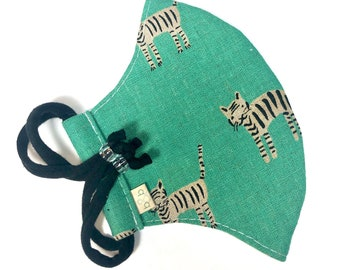 Tiger Adjustable Fitted Cloth Face Mask