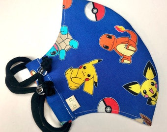 Pokémon Adjustable Fitted Cloth Face Mask