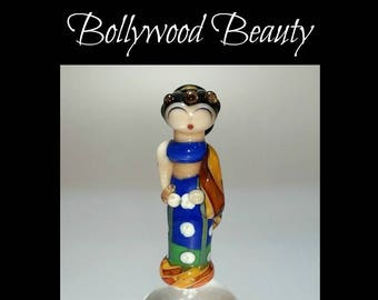 Bhavana - Lampwork Glass Bollywood Beauty Bead by Tracy Jerrell Akhtar