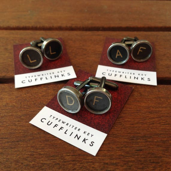 Custom Vintage Typewriter Cuff Links your choice of letters