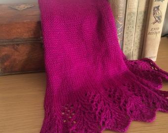 Fine Feathers Lace Scarf - Knitting Pattern PDF