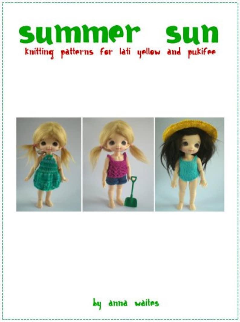 Summer Sun  Knitting Pattern eBook for Lati Yellow and image 0