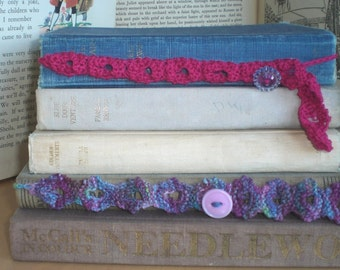 Button Bookmarks - KNITTING Pattern