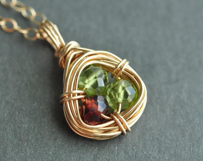 Birthstone necklaces