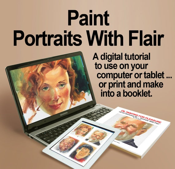 How to paint portraits with flair a digital art instruction | etsy.