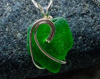 Sea Glass Necklace - Genuine Sea Glass Jewelry - Ride The Wave