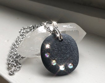 Beach Stone Necklace - Rock Jewelry - Path of Enlightenment