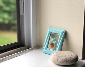 FLOWER CHILD - Sea Glass Shabby Chic Framed Art