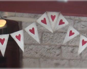 Glittered Hearts Wedding Banner