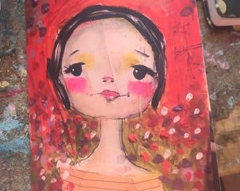 Parisian girl, set of 5 notecards