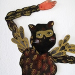 Feathered Cat Burgular DIY Paper Doll Articulated / Hinged Beasts Series