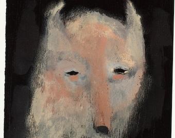 Mr Shapeshifter portrait / gouache painting