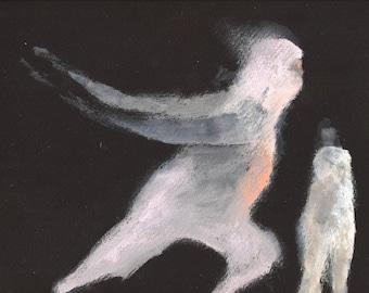 Spirit Runner / gouache painting