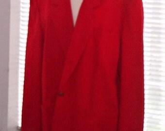 Red Pendleton Blazer-Pure Virgin Wool