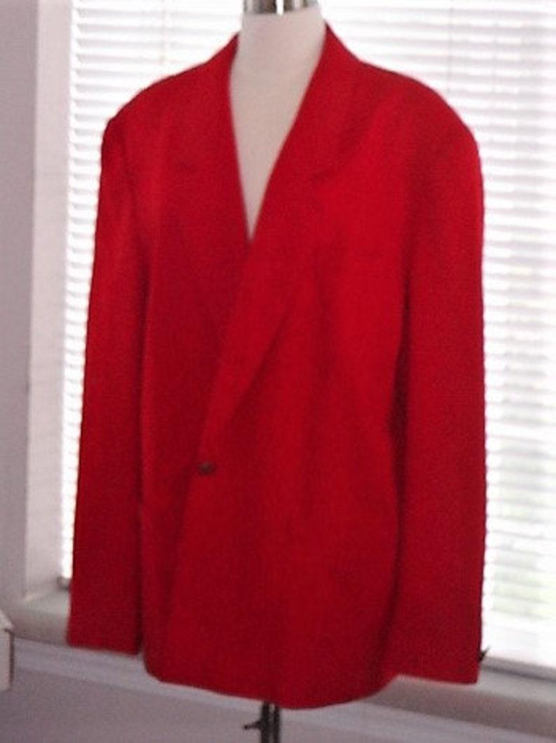Red Pendleton Blazer-Pure Virgin Wool image 0