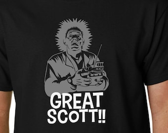 Great Scott!! t-shirt BACK to the FUTURE // Doc Emmett Brown Marty McFly Film Funny Zemeckis DeLorean Biff
