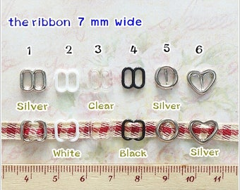 25pcs Size 6mm ( inner size ) Mini Plastic - Metal Buckle  Doll Dress