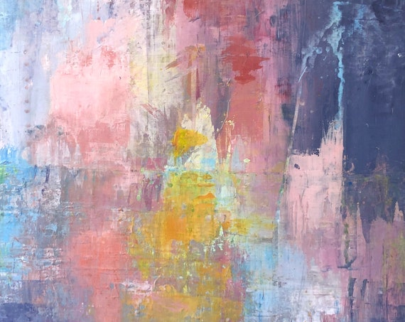 Painting Original Abstract Modern Contemporary Art for Decoration, Couleurs de l'Aube
