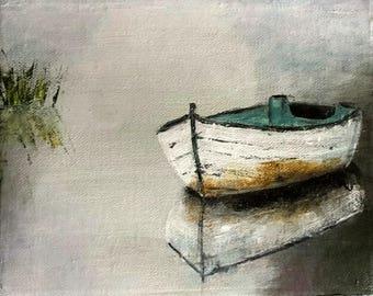 Rowboat in Fog