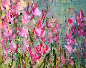 Painting Original Abstract Modern Contemporary Art for Decoration, Glimpses of Spring
