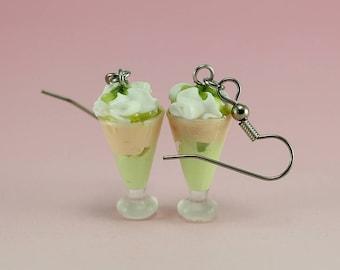 Pistachio Milkshake Earrings