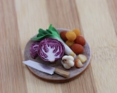 Fresh from the Farmer's Market - 1/12 Scale Dollhouse Miniature Preparation Board
