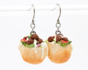 Miniature Falafel Earrings | Mini Food Jewelry