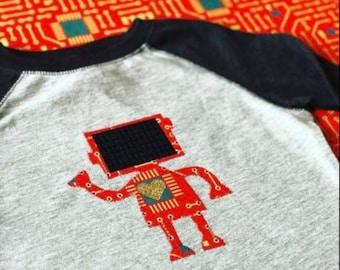 Robot T Shirt | Valentine Shirt | Science Shirt | STEM shirt | Baseball Tee | Love Robot | Valentine Gift