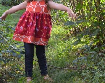 Dinosaur Dress | Science Dress | |  Girls Clothing| Paleontologist | Dinosaur Birthday Party | Stem Girl | Nerd Baby Gift Toddler Infant