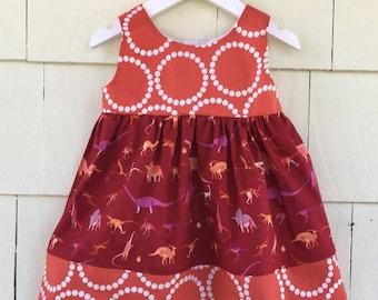 Dinosaur Birthday Dress | Science Dress | Dino Girls Clothing | Natural History | Paleontologist| Stem Nerd | Baby Gift | Toddler Girl