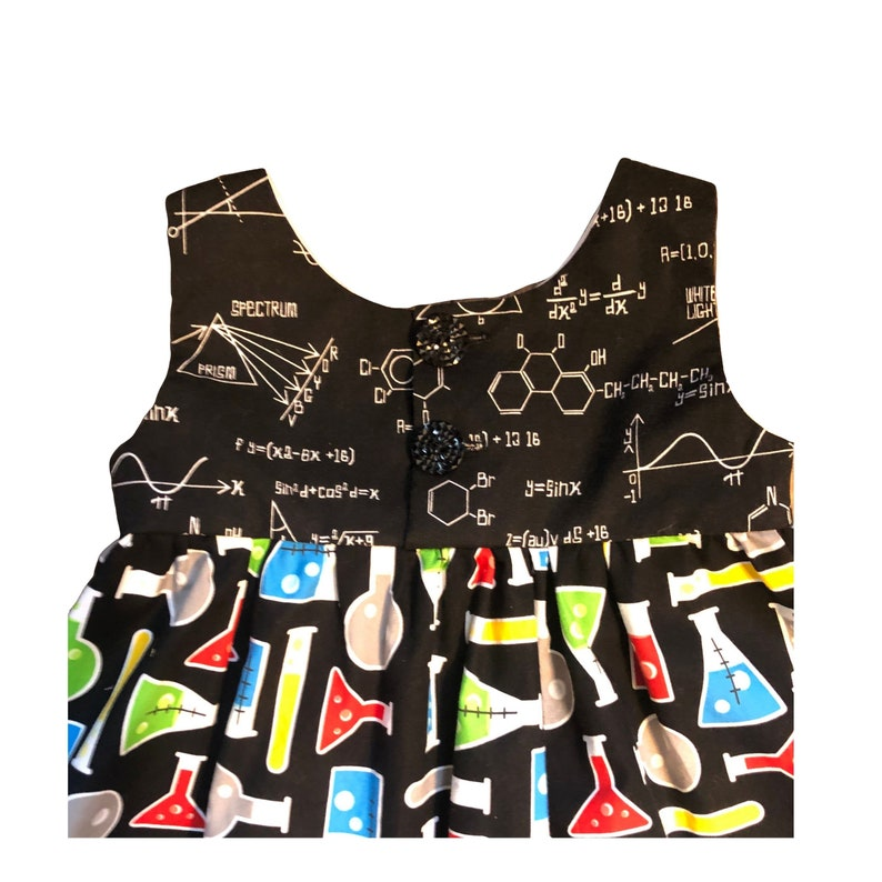 Science Birthday Ready to Ship 4T Science Dress Baby Gift Stem Clothing Chemistry Tunic Lab Experiment March for Science