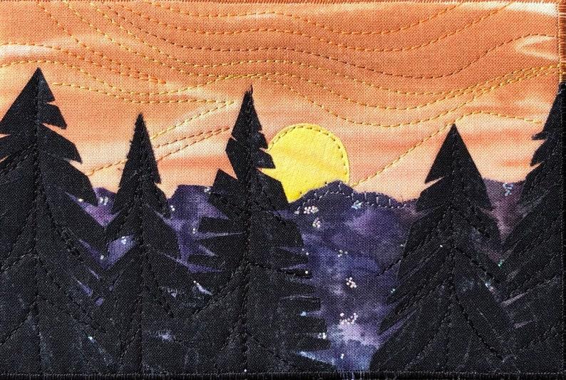 Pacific Northwest Mountain Sunset Landscape  Rustic Art  image 0