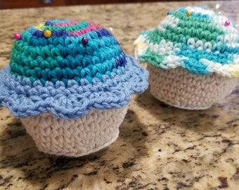 Multicolor Cupcake Pincushions