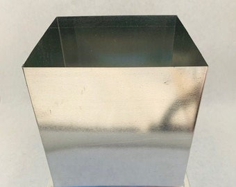 Large Square Candle Mold with Triple Wick, Metal