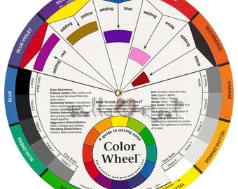 Color Wheel Pocket Size 5 1 8in Candle Color Mixing Guide Etsy