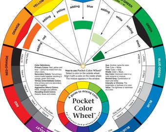 Color Wheel 9 1 4in 23 5 Cm Candle Color Mixing Guide Etsy