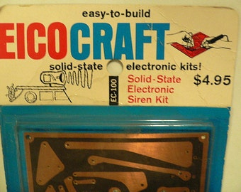 Vintage 1967 EICOCRAFT Easy To Build Solid State Electronic Siren Kit, RARE