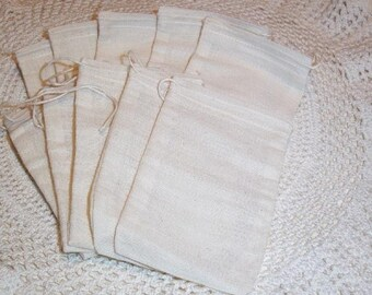 storage bag soap bag rubber stamping sachet bag 25 Soap Making Muslin Drawstring Bags 4 x 6